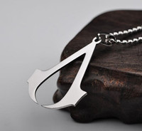 Wholesale assassins creed necklaces resale online - Assassin Creed Deiss Mond Pendants Necklaces Gold Silver Charm Necklace Statement Jewelry Movie Jewelry for Men Women Christams Gift Lady