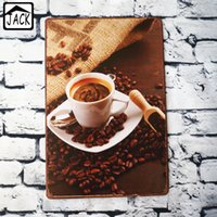 Chicchi di caffè 20x30cm Tin Sign Coffee Pub Gallery Poster Poster Plate Wall Cafe Decor Plate Retro Metal Art Poster