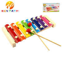 Wholesale Xylophone For Children - Learning&Education Wooden Xylophone For Children Kid Musical Toys Knock Piano Octave Xylophone Wisdom Juguetes 8-Note Music Instrument