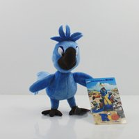 Wholesale Stuffed Parrot Toys - Wholesale- Rio 2 Toy Little Blue Parrot Tiago Plush Hot Movie Rio Stuffed Animals Birds Plush Toys For Children Gift