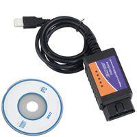 Wholesale Elm 327 Obdii Scanner - ELM 327 USB ELM327 USB OBD OBDII scanner car diagnostic interface