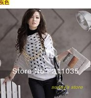 Wholesale Ice Air Conditioning - Wholesale- Hot Sale high quality 20% ice silk+ 80% cotton thin sweater outerwear round hole cutout sweater air conditioning shirt QC