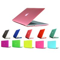 Wholesale Netbook Dhl - Macbook Laptop Netbook Frosted Matt Rubberized Front + Back Hard PC Case Cover for 11.6 Air 13 13.3 15.4 Pro Retina free DHL