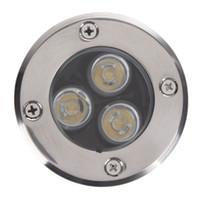 ingrosso luci di zoccoli-30X Impermeabile LED Sepolto Luce IP67 Lampade da incasso a incasso Patio Lastricato Plinth Illuminazione da esterno 3W Sotterraneo a LED Fontana di luce piscina