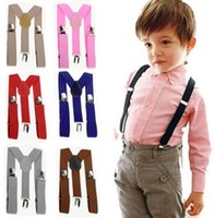 Wholesale Kids Boy Cute Cool - Children Straps Cute Elastic Boys Girls Clip on Suspenders Clothing Kids Cool Vintage Fashion Y Shape Adjustable Braces High Quality Braces