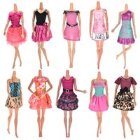 Wholesale Doll Toys Clothes - 10 Set 2017 Newest Princess Doll Outfit Beautiful Party Clothes Top Fashion Dress For Barbie Doll Best Girls' Gift Baby Toys