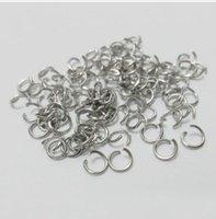 donuk gümüş takı toptan satış-1000 Adet donuk gümüş Açık Jump Yüzük Bölünmüş Yüzük Takı Bulma Takı Yapımı Için 5mm