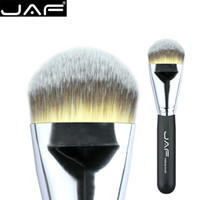 Wholesale tips for black hair for sale - JAF Kabuki Liquide Foundation Brush for Face Makeup Beauty Straight Taklon Synthetic Tri Color Hair Pressed Round Tip STYF