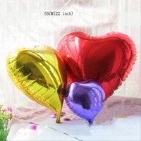 50 PCS Grande taille 22 pouces Multi-Color Heart Shape Globules Foil Ballons en aluminium Film Camouflage Cartoon Toy Wedding Birthday Party Decorat