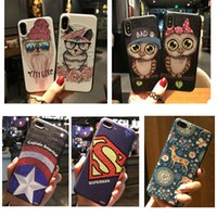 Wholesale 3d Iphone Accessories - Cell Phone Accessories Cases 2017 Fashion Upscale 3D super embossed cartoon Geometry Case Cover Defender For iPhone 8 6 6s plus 7 7Plus