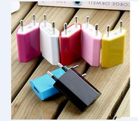 Wholesale Ecig Wall Chargers - Universal EU USA Wall Adapter USB Home Travel Charger power Cube 1A e cigar for mobilephone ecig
