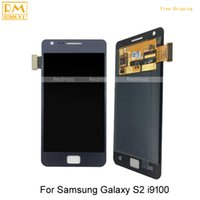 Wholesale S2 Frame - DHL 1pcs For Samsung Galaxy S2 i9100 i9108 i919 Full LCD Display Touch Screen Digitizer With Without Frame Assembly Fully Touch Panels Parts