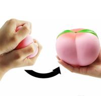 Wholesale kawaii kids - 10CM Jumbo kawaii Squishy Slow Rising Peach Pendant Phone Straps Charms Queeze Kid Toys Cute squishies Bread