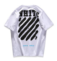 Wholesale New Shirt Style Collection - 2017ss New Collection Off-White C O X Mirror women men t shirt summer mix style short sleeve t-shirts tee OFF White Virgil Abloh