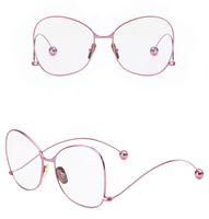 verschreibungsbrillen rahmen großhandel-2017 neue frauen brillengestell frauen große brillen optische rahmen klar brillen verordnung brillen Metall