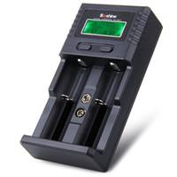 Wholesale Soshine H2 - Solid Black Original Soshine H2 Li-ion NiCd NiMh LCD Digital Intelligent 2-Slot Battery Charger (US EU Plug)- 100 - 240V +B