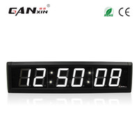 Wholesale Digit Segment - [Ganxin]2.3 inch 6 Digits LED Wall Clock White Color LED Timer 7 segment Display Countdown with Remote Control