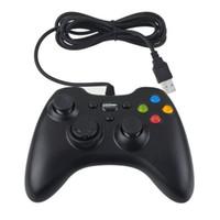 joysticks controlador de juegos de ordenador al por mayor-Controlador de Xbox 360 Gamepad USB con cable Joypad XBOX360 Joystick PC Black Game Controllers para Ordenador portátil PC