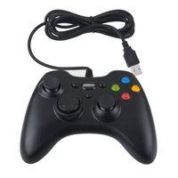 ingrosso computer controller di gioco usb-Gamepad Xbox 360 USB Periferiche di gioco Wired Joypad XBOX360 PC Joystick nero per computer portatile del PC