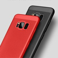 Wholesale Cool Galaxy Cases - Cooling phone shell matte full package hard shell protective cover For Samsung Galaxy S7 Edge S8 S8 Plus Phone Cases Coque Breathable PC
