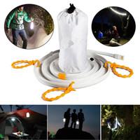 1,5 led light achat en gros de-Lumière blanche flexible Portable 1.5 / 2M étanche USB SMD 3528 LED lampe de lanterne de lumière de bande pour le camping randonnée DC5V
