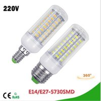 Wholesale Candle Leds Bulbs - 1Pcs LED lamp E27 E14 7W 12W 15W 18W 20W 25W SMD 5730 Corn Bulb 220V Chandelier LEDs Candle light Spotlight