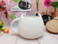 bone china tea cups wholesale Canada - Novelty Cute Cat Animal Milk Mug Ceramic Creative Coffee Porcelain Tea Cup Nice Gifts