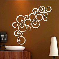 Wholesale Wall Stickers Flowers 3d - Vinyl Flower Stickers Acrylic Diy Wall Sticker Removable Flowers Decals Mirror Wall Art for Home Decor