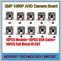 Wholesale Cctv Board Osd - DIY AHD 10PCS LOT 2MP 1080P IMX 323 CMOS+2441H DSP CCTV PCB Board With OSD Cable Metal IR CUT LENS Camera Module