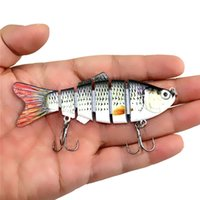 Wholesale segment swimbait crankbait hard bait online - Fishing Wobbler Lifelike Fishing Lure Segment Swimbait Crankbait Hard Bait cm g Artificial Lures Fishing Tackle