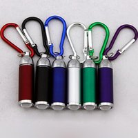 Wholesale Led Lumen Flashlight - Fashion LED Flashlight Keychain Flashlight Telescopic Outdoors Sport Mountaineering Buckle Colorful Keyring LED Lumen Torch CCA7044 500pcs