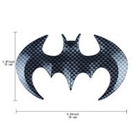 Wholesale Self Adhesive Carbon Fiber - Harley Black Bat Carbon Fiber 3D Self Adhesive Emble Sticker Harley Car Personality Emble