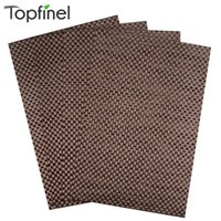 Wholesale Linen Placemats Wholesale - Wholesale-Top Finel 2016 Set of 4 PVC Cross Weave Placemats for Dining Table Runner Linen Place Mat in Kitchen Accessories Cup Coaster Pad