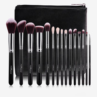 Wholesale Wholesale Professional Beauty Cases - MSQ 15pcs Professional Makeup Brushes Set Make Up Brushes High Quality Synthetic Hair  GOAT hair With PU Leather Case For Beauty