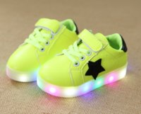 Wholesale Cool Shoes Wholesale - Gorgeous LED Light up Kids Infant Star Cool Soft Sole Anti-Slip Baby Boy Girl Shoes Sneaker
