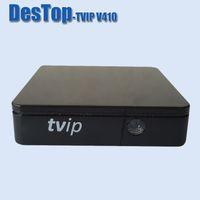 quad double großhandel-Set-Top-Box TVIP V410 V412 Box Linux oder Android 4.4 Doppel-System-Unterstützung H.265 Quad-Core-TVP 410