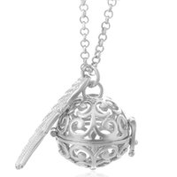 Wholesale Hollow Ball Pendant Necklace - Silver Harmony Ball Pendant Necklace Hollow Clouds Love Heart Design Cage Pendants Angel Caller Ball Necklaces New Mother Gift