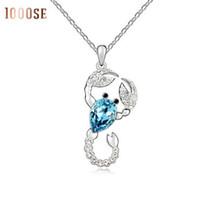 Wholesale Gold Scorpio Pendant - A genuine using SWAROVSKI Elements Crystal Necklace - Scorpio elf fashion jewelry