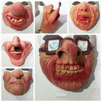 Wholesale Scary Costumes For Women - Fun Scary Horrible Mask Party Halloween Fool's Day Clown latex Mask Cosplay Costume Half Face Masks Woman Man Children 25 style