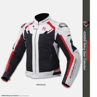 Wholesale Locomotive Jackets - Free shipping 1pcs Outdoor Sports Men Riding Motorcycle Windproof Clothing Locomotive Protective Jacket with 5pcs pads