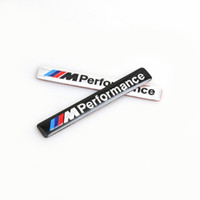 Emblemas Para Bmw Coche Baratos-/// M Performance M Potencia 85x12mm Motorsport Metal Logo Car Sticker Alumbrado Emblema Grill Badge para BMW E34 E36 E39 E53 E60 E90 F10 F30 M3