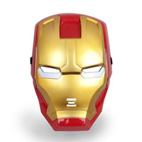 Wholesale Wholesale Cosplay Mask Iron Man - Halloween Masks Cartoon Cosplay Mask Clone Trooper Bat Iron Man Despicable Me With LED for Party Cosplay Novelty Toys