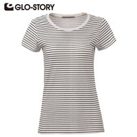 Wholesale Story O - Wholesale-GLO-STORY Brand High Quality O-neck Short Sleeve T-shirt Women Casual Lady Summer T shirt Women tops Plus Size WPO-2165