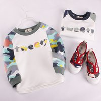 Wholesale Girls Over Coat - Kids Camo Hoody 2 colors raglan sleeve pull over Boys girls fashion camouflage patern clothing kids casual clothing