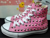Wholesale concrete modelling resale online - Ship with box drop ship new high model sharp studs canvas shoes clean and dirty model unisex shoes for lovers of all size eur