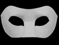 Wholesale Diy Paper Board - Drawing Board Solid White DIY Zorro Paper Mask Blank mask for Schools Graduation Celebration Novelty Halloween Party masquerade mask wa3735