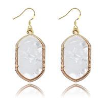 Wholesale geometric earrings online - Luxury Brand Designer Dizzy Dangle Earrings Creative Multidimensional Visual Earring Jewelry For Girl Party geometric Earrings
