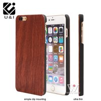 Wholesale Iphone Original Protector - Blank Wood Bamboo U&I Case for iPhone 5 5S 6 6S 7 7Plus Plus Rosewood Walnut Custom Brand New Original Fundas Protector Capa