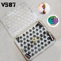 Wholesale Sugarcraft Decorating Tips - DIY 52Pcs Stainless Steel Icing Piping Nozzles Tool Pastry Cake Kitchen Baking Tools Sugarcraft Decorative Accessory
