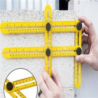 Wholesale Multi Angle Ruler Template Tool Measures All Angles Forms Angle izer for Measurement Outdoor Tools Flexible Easy Tool PP China Mainland